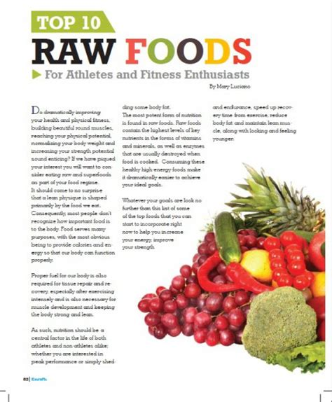 extrafit magazine top 10 raw foods for mary luciano