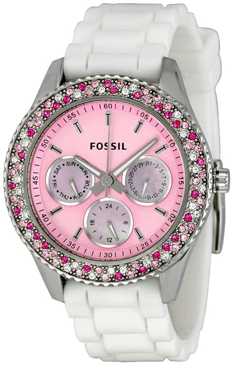 Fossil Pink fossil womens es2895 stella pink accessorize fossils fossil watches