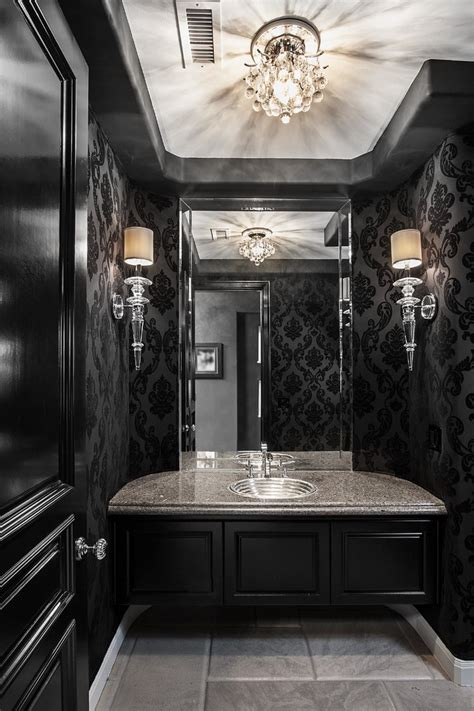 modern grey bathroom decorating ideas room decorating peel and stick wallpaper powder room contemporary with