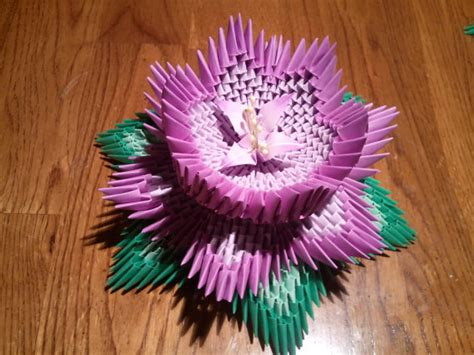 3d Origami Lotus Flower Tutorial - 3d origami lotus by akvees on etsy