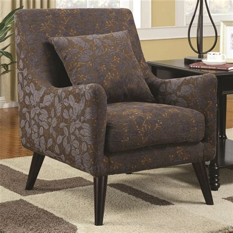 leaf pattern armchair leaf pattern fabric accent chair by coaster 902086