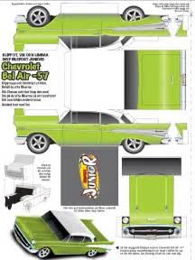 paper cars template chevrolet bel air car paper