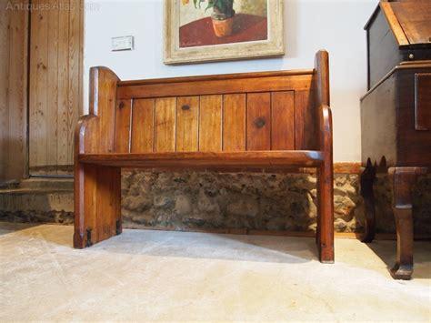 pew bench settle pitch pine c1880 antiques atlas