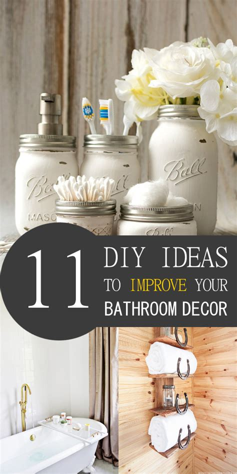 diy bathroom decor ideas 11 awesome diy ideas to improve your bathroom decor