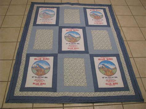 bluebird flour sack quilt