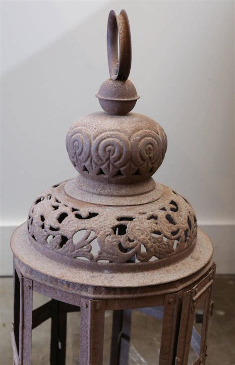 decorative pierced metal lantern  sale  stdibs