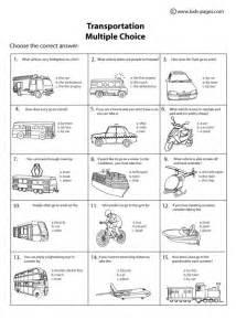 transportation multiple choice amp worksheet