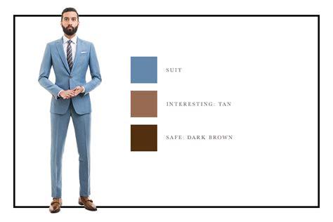 light blue suit combinations how to combine suit and shoe colors charts