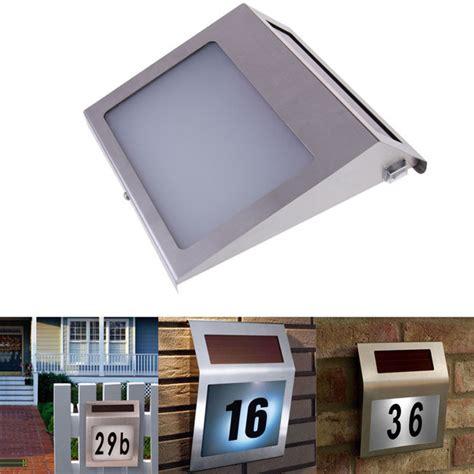 Solar Light House Numbers Led Solar Light Outdoor Stainless Solar Powered 3led