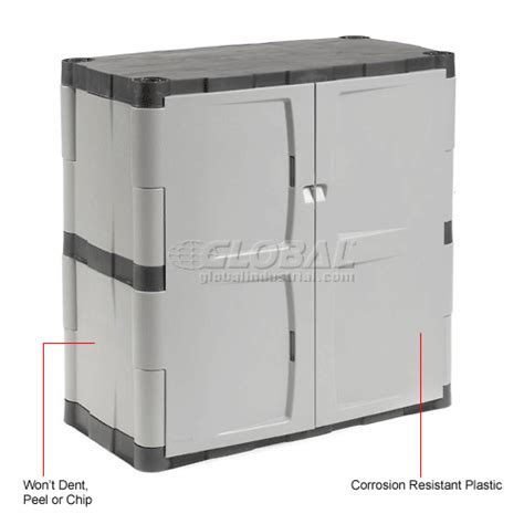 Rubbermaid Plastic Storage Cabinet Rubbermaid 7085 Plastic Storage Cabinet Base Door 36 Quot W X 18 Quot D X 37 Quot H
