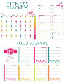 printable fitness trackers and food journal the homes i