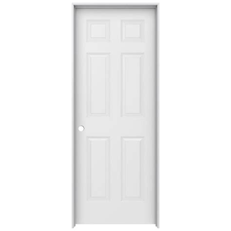 home depot prehung interior door jeld wen 30 in x 80 in colonist primed right