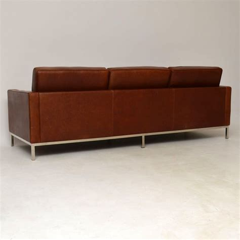 florence knoll sofa vintage vintage florence knoll leather chrome sofa