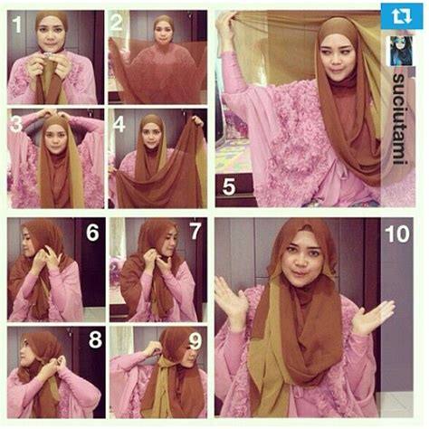 tutorial jilbab pashmina two tone 34 best images about hijab tutorials on pinterest