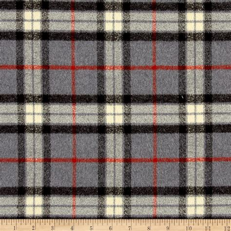 plaid fabric kaufman mammoth flannel large plaid grey discount designer fabric fabric