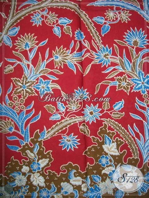 kain batik murah warna merah untuk perayaan imlek kp584 toko batik 2018