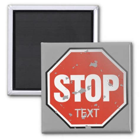 stop sign template grunge stop sign template magnet zazzle