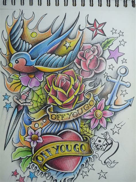 tattoo old school art off you go old school tattoo by alhoide on deviantart