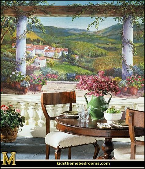 tuscan wall murals decorating theme bedrooms maries manor tuscany vineyard style decorating tuscan wall mural