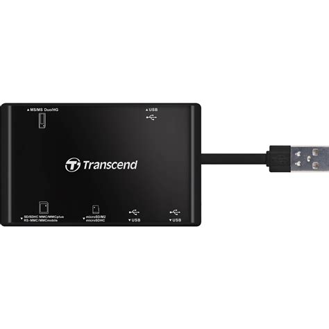 Transcend Card Reader Usb 2 0 Rdp8 transcend rdp7 usb card reader black ts rdp7k b h photo