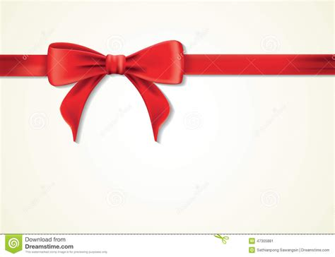 red ribbons and greeting card bows new year gift stock