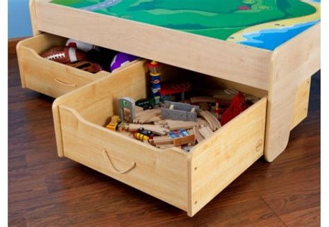 kidkraft table with 2 trundle drawers