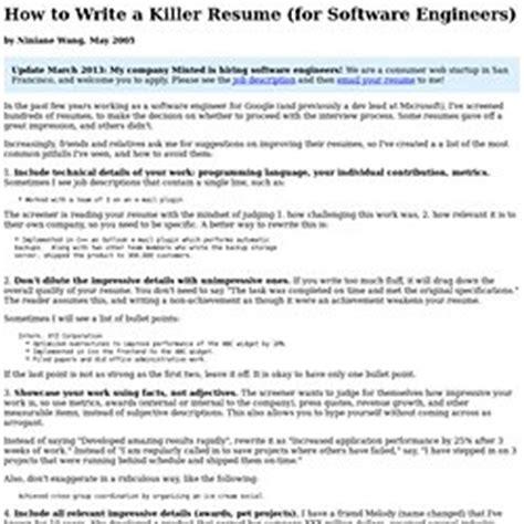 writing a killer resume resume curriculum vitae cv etc pearltrees
