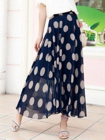 Polka Tile Skirt new summer polka dots chiffon skirt