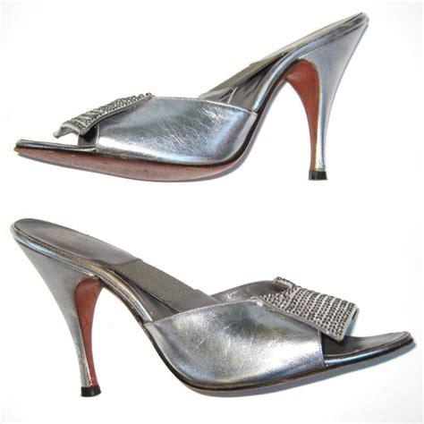 Vpod Golden by Vpod Vintage 1950s Herbert Levine Silver And Rhinestone Heels