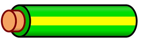 file wire green yellow stripe svg