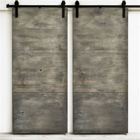 36 Sliding Closet Doors Sliding Barn Door Wood Modern Slab Silverwood 36 Quot X 82 Quot Hardware Included Solid Wood