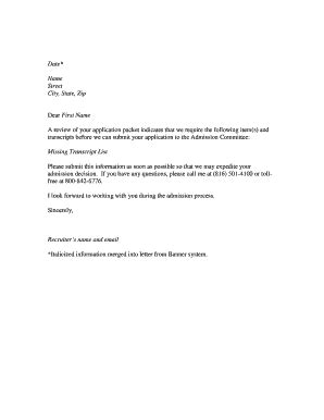 Transfer Credentials Letter Honorable Dismissal Sle Fill Printable