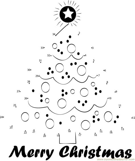 connect the dots christmas tree connect the dot coloring pages for new calendar template site