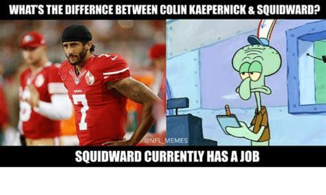 Kaepernick Squidward Meme - this just in