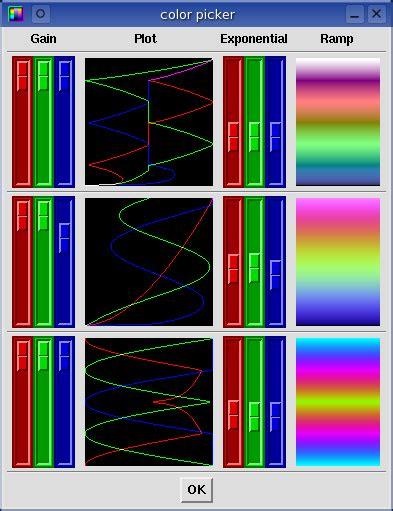 color scheme selector baudline manual colors scrolling