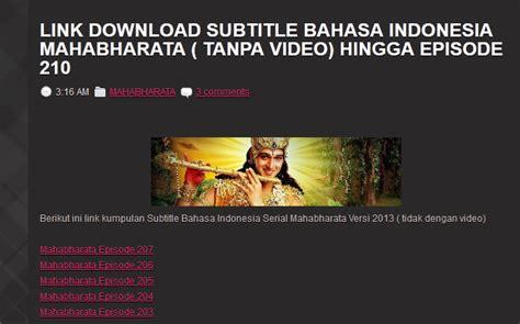 film mahabharata bahasa indonesia episode 259 mahabharata versi terbaru di antv gang mangga manis