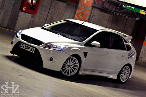 Ford Focus Rs Series Black And White Wheels ford focus st mk2 facelift white color front bumper from focus rs big alloy rims ford focus