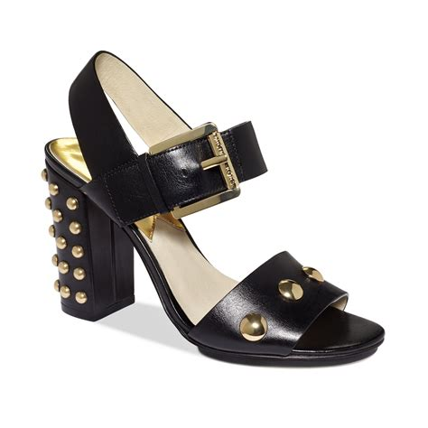 black leather platform sandals michael kors linden platform sandals in black black