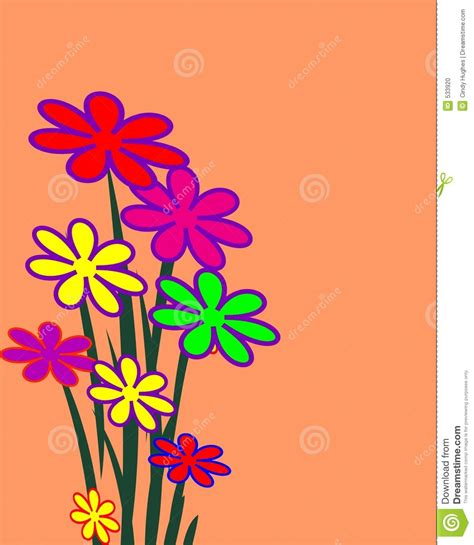 imagenes de flores ilustradas manojo de flores ilustradas foto de archivo imagen 533920