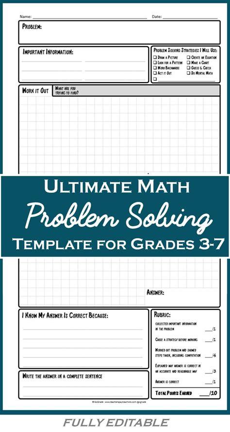 Best 25 Math Problem Solving Ideas On Pinterest Motivational Speech For Students Educational Problem Solving Template