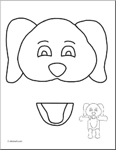paper bag monkey pattern paper puppet printables craftbnb