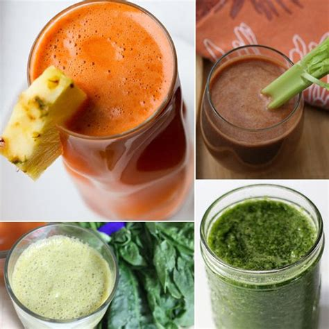 vegetable smoothies and juice recipes popsugar fitness