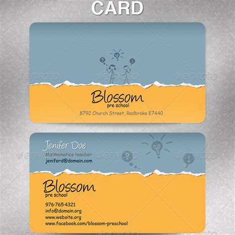 Teaacher Card Template by Business Card Templates Images Card Design And