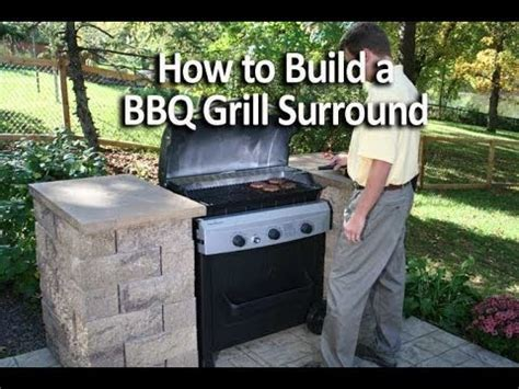 how to build a backyard grill how to build an outdoor kitchen or bbq grill surround youtube