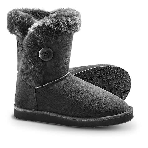 slippers boots womens s snowy creek winter boots black 234057