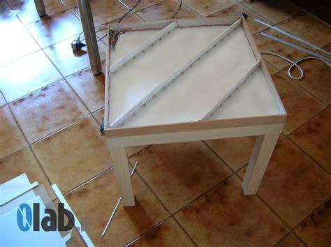 tavolo luminoso ikea ikea hack lack a programmable led table 0lab