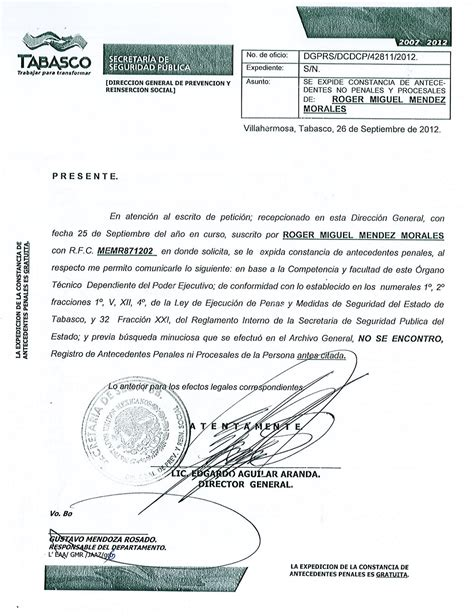 carta de antecedentes no penales 2016 carta de no antecedentes penales chihuahua new style for