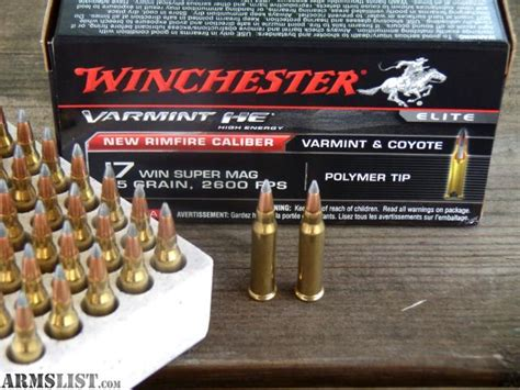 17 winchester super mag able ammo armslist for sale trade 17 winchester super mag 17 wsm