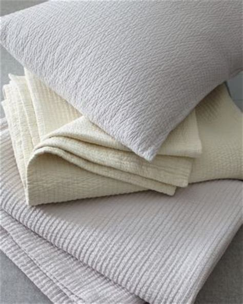 Cotton Coverlets And Quilts by Eileen Fisher Woven Stitch Organic Cotton Coverlet