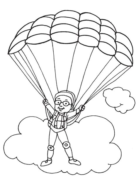 Parachute Coloring Pages parachute coloring pages az coloring pages